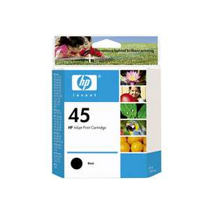 Original Hewlett Packard (HP) 51645A (HP 45 ink) inkjet cartridge - black cartridge