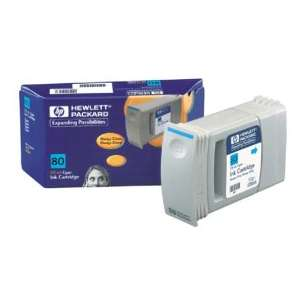 Original Hewlett Packard (HP) 80 inkjet cartridge - cyan