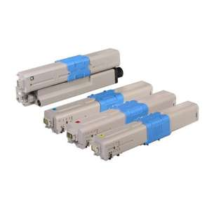 Compatible Okidata 46507504 / 46507503 / 46507502 / 46507501 toner cartridges - 4-pack