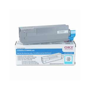 Original Okidata 43324403 toner cartridge - high capacity cyan