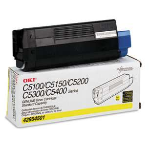 Original Okidata 42804501 toner cartridge - yellow