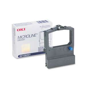 OEM Okidata 52106001 Black Original Ink Ribbon Cartridge