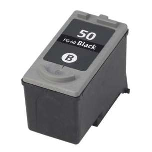 Remanufactured Canon PG-50 inkjet cartridge - black cartridge