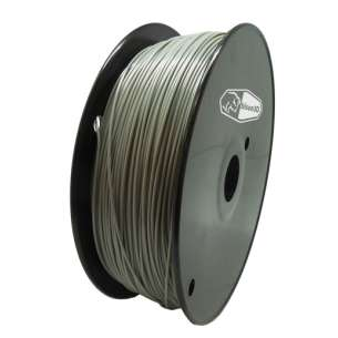 3D Filament (Bison3D brand) for 3D Printing, 1.75mm, 1kg/roll, Gray (PLA)