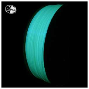 3D Filament (Bison3D brand) for 3D Printing, 1.75mm, 1kg/roll, Glow in the Dark Blue (PLA)