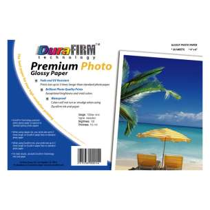 Postcard size DuraFirm Technology Glossy Photo Paper (20 sheets per pack)