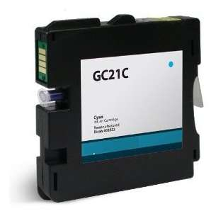 Compatible ink cartridge to replace Ricoh 405533 (GC21C) - cyan