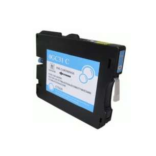 Compatible ink cartridge to replace Ricoh 405689 (GC31C) - cyan