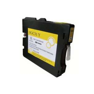 Compatible ink cartridge to replace Ricoh 405691 (GC31Y) - yellow