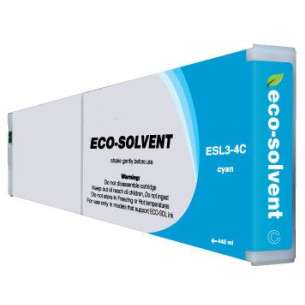 Compatible ink cartridge to replace Roland ESL3-4C - eco-sol max cyan