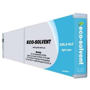 Compatible ink cartridge to replace Roland ESL3-4LC - eco-sol max light cyan