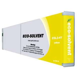 Compatible ink cartridge to replace Roland ESL3-4Y - eco-sol max yellow