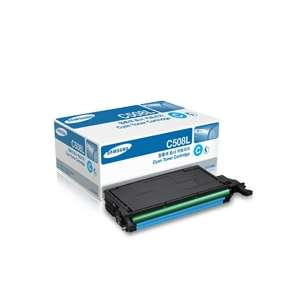 Original Samsung CLT-C508L toner cartridge - high capacity cyan
