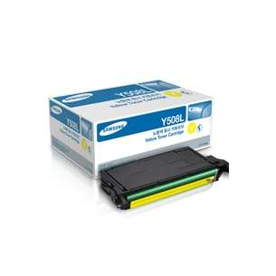 Original Samsung CLT-Y508L toner cartridge - high capacity yellow