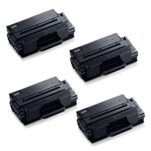 Compatible Atlantic Inkjet Canada Samsung MLT-D203L toner cartridges - high capacity black - 4-pack