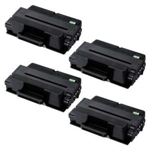 Compatible Atlantic Inkjet Canada Samsung MLT-D205L toner cartridges - high capacity black - 4-pack