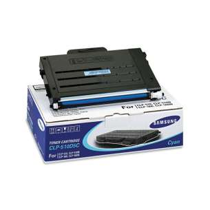 Original Samsung CLP-510D5C toner cartridge - cyan