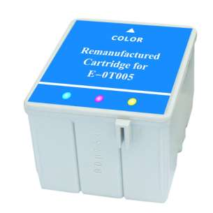 Remanufactured Epson T005011 inkjet cartridge - color cartridge