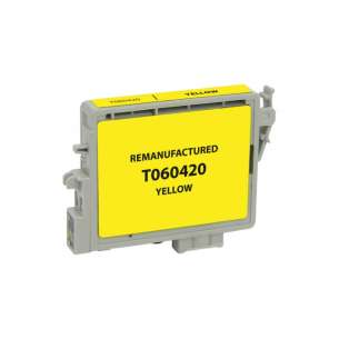 Remanufactured Epson T060420 (60 ink) inkjet cartridge - yellow