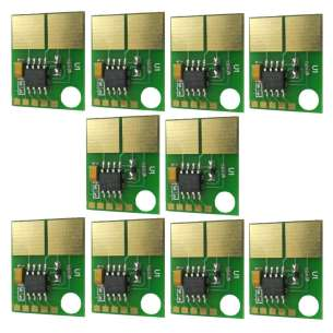 10 PACK: Uni-Kit Replacement Chips for Dell B2360 / B3460 / B3465 (331-9803) - 2500 yield