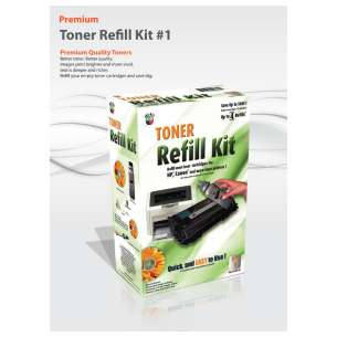 Premium DIY Toner Refill Kit for refilling the Brother TN-540 / TN-570
