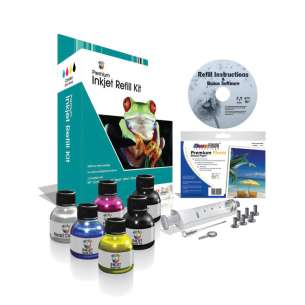 Durafirm Ink Refill Kit - 4 Color - black cartridge, Color