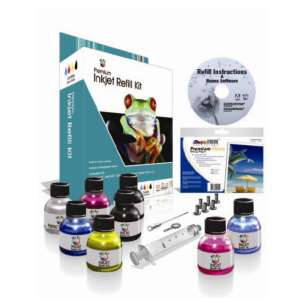 Durafirm Ink Refill Kit - 6 Color - black cartridge, Color, Photo